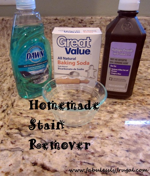 Homemade Stain Remover Picture Tutorial Fabulessly Frugal