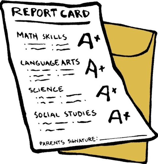 free clipart school report card - photo #11