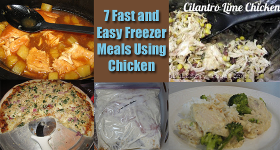 freezer meal recipes chicken