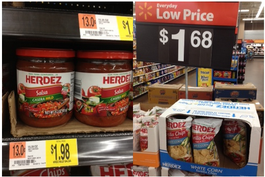 Herdez Chips and Salsa at Walmart