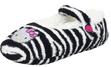 Hello Kitty Slippers Zebra striped