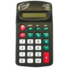 A&W Products E-Tronic Pocket, 8 Digit, Battery Power Calculator (08202)