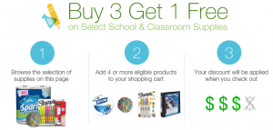 Buy 3 Get 1 Free Back to School Deal on Amazon Photo
