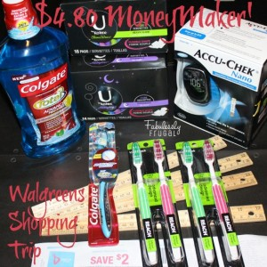 Walgreens Shopping Trip  Colgate, Accu-Chek, U By Kotex, Reach MoneyMaker