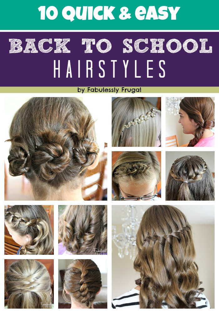 Back to School Hairstyles at Fabulessly Frugal