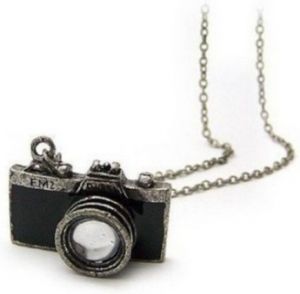New Retro Camera Photographer Necklace in Black