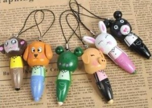 cartoon animal wooden pen set