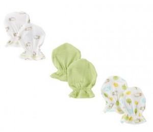 Gerber Unisex-Baby Newborn 3 Pack Hippo Mitten (408x352)