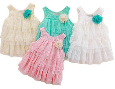 Baby lace ruffle dresses