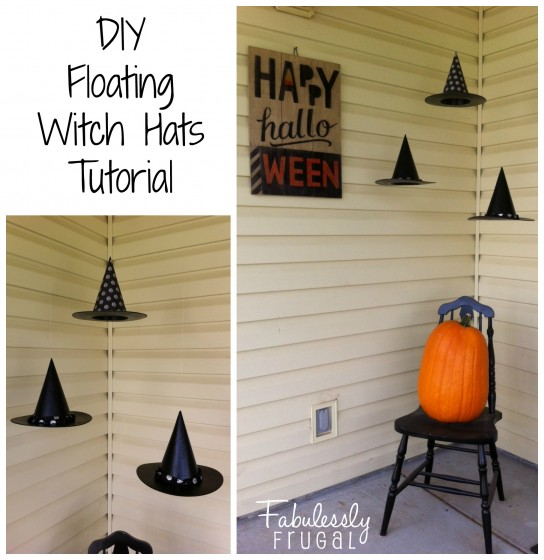 DIY Floating Witch hats