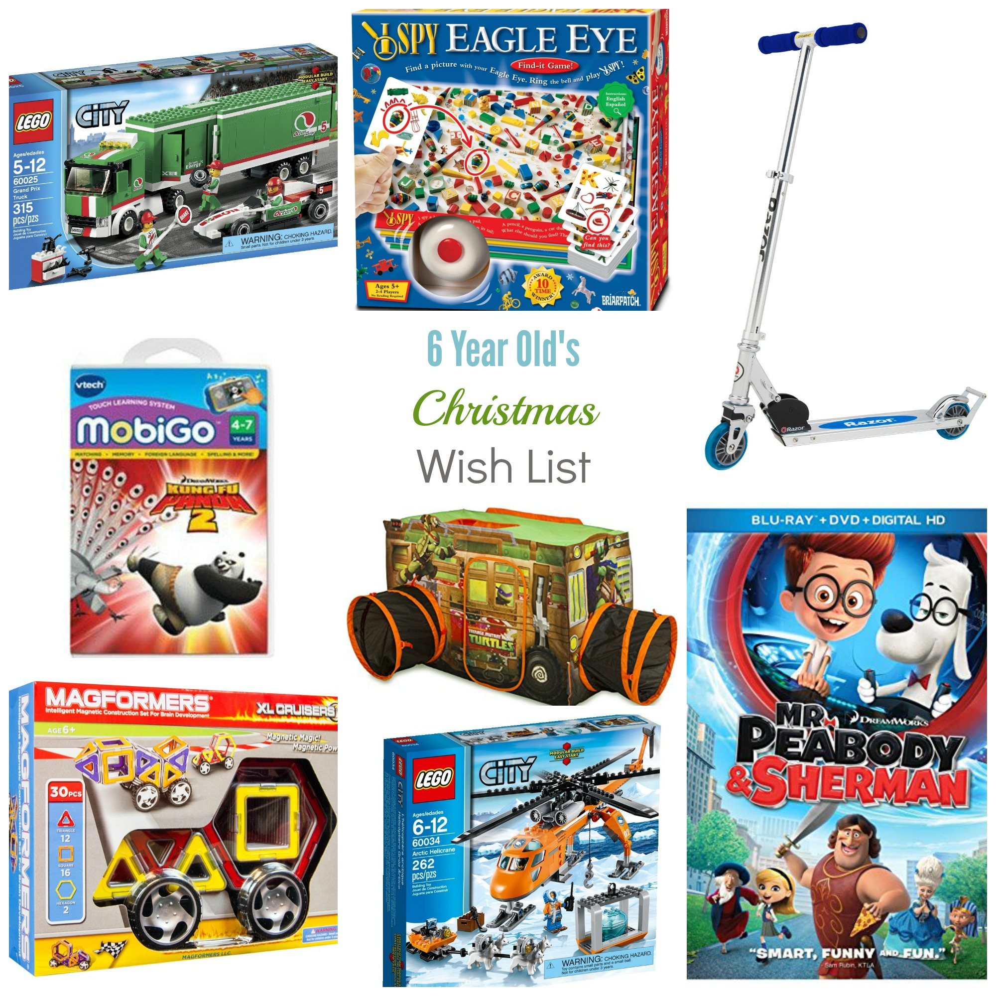 Christmas Wish List - 6 Year Old Boy