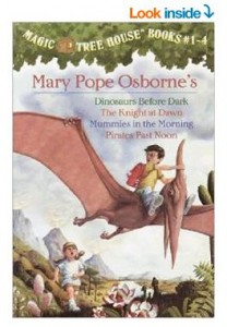 Magic Tree House Boxed Set, Books 1-4 Dinosaurs Before Dark, The Knight at Dawn, Mummies in the Morning, and Pirates Past Noon