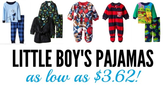 Little boys pajamas deals on Amazon