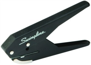 Swingline Low Force 1-Hole Punch, 20 Sheets, Black