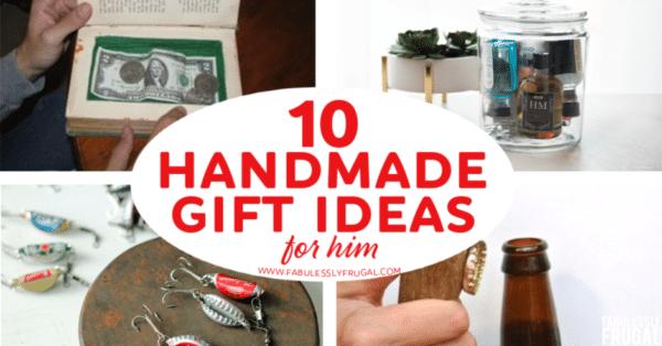 Handmade gift ideas for him