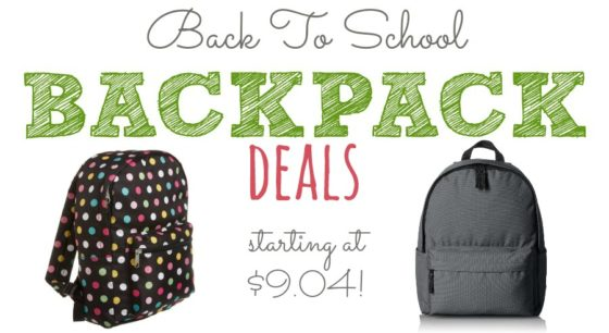 Save now on backpacks for back to school today