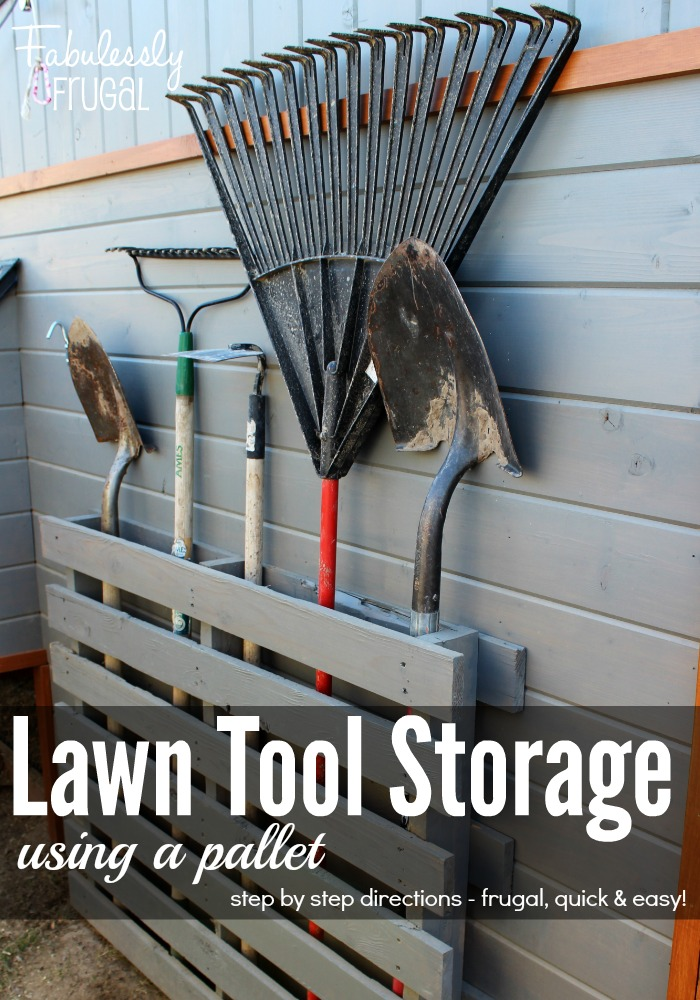 Store lawn tools with a pallet for Online garage design tool