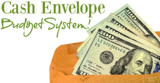 cash envelope budget system with fabulesslyfrugal