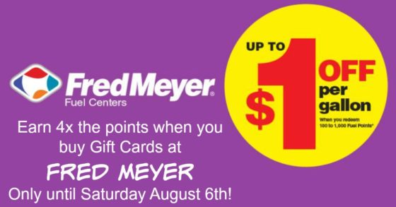 Fred Meyer Fuel Points with Gift Card Purchase