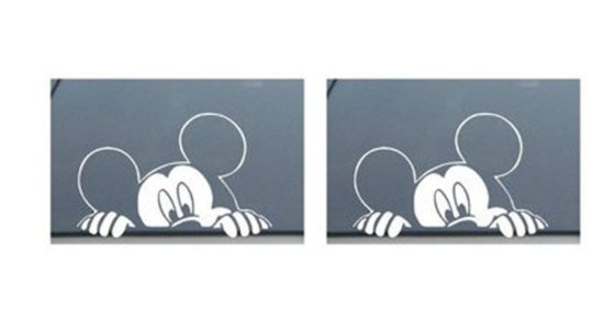 Mickey Mouse Disney Peeking Looking