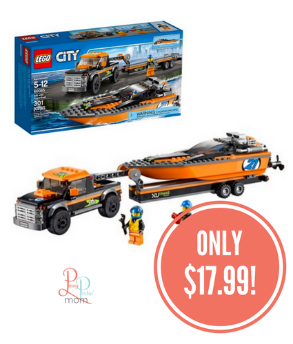 LEGO® City Great Vehicles 4x4 with Powerboat Only $17.99 (Reg. $23)