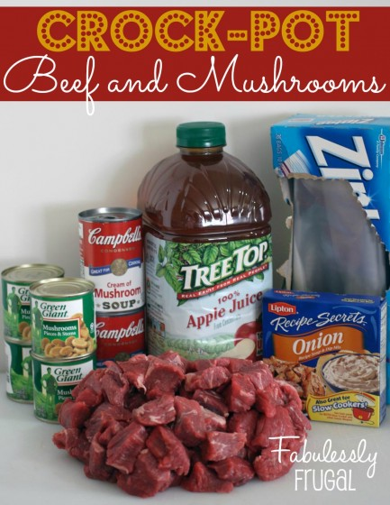 Crock-Pot Beef and Mushrooms ingredients