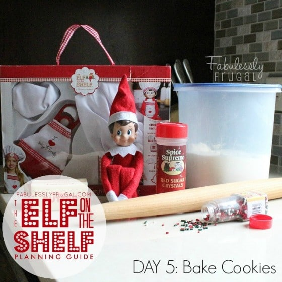 Elf on the Shelf Planning Guide Day 5 Bake Cookies