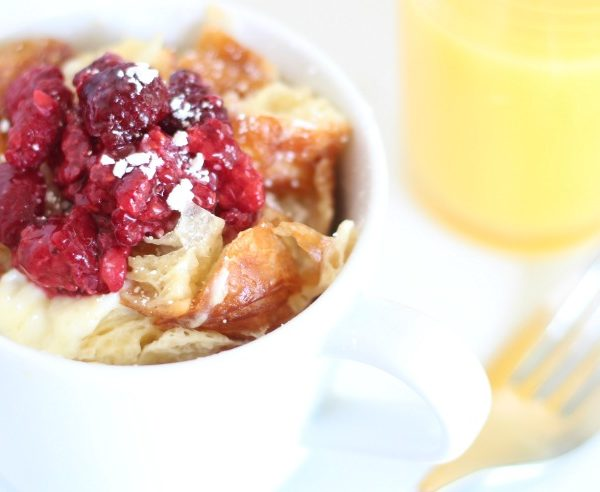 cream cheese french toast in a mug microwave recipe