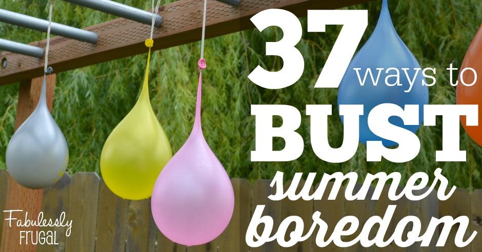 37 ways to bust summer boredom - fun balloon and bubble activities