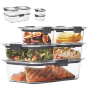 Amazon: Set of 5 Rubbermaid Brilliance Leak-Proof Food Storage Containers...